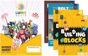 Luma World Grade 5 Math Application Workbooks and Building Blocks Number Quest  Learn  Practice Numeracy Concepts thr