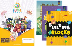 Luma World Grade 3 Math Application Workbooks and Building Blocks Fun with Numbers  Learn  Practice Numeracy Concepts
