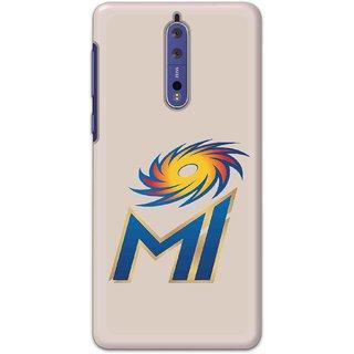 IPL FANS Digimate Multicolor,  Hard Matte Printed Designer Cover Case For Nokia 8