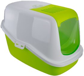 Savic Nestor Cat Toilet In Lemon Green