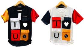 Trendyz Poly Cotton Stylish T shirts pack of Two