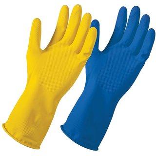 Eastern Club Multipurpose Non-Slip Rubber Reusable Gardening Dishwashing Scrubbing Cleaning Gloves (10 Pair)