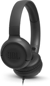 JBL T500 Wired Headset(Black, On the Ear)