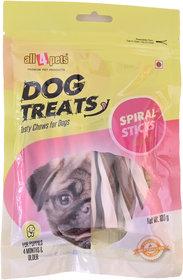All4pets Spiral Sticks Chicken Flavour-100g(For Puppies)