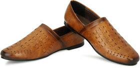 Aaiken Men's Tan Casual Loafers Shoes