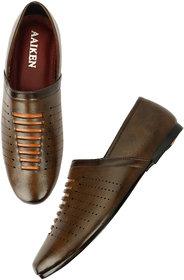 Aaiken Men's Brown Casual Loafers Shoes