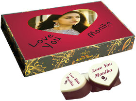 Cute I Love You Chocolate Gift Box Personalized with Picture(with Printed Chocolates With Kit - Kat)2