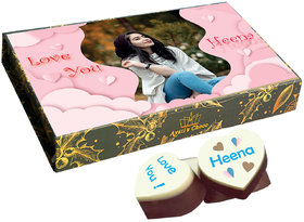 I Love You Chocolate Gift Box Personlized with Photo(with Printed Chocolates With Cranberry)312