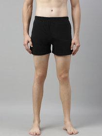 Dcrooz Men Black Solid Polyester Boxer