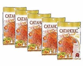 Cataholic Neko Chicken Jerky Sliced Cat Treat, 30 g (Pack of 5)