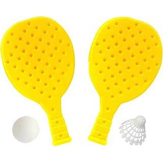 Scorpion Racket Set with Ball  Shuttlecock for Kids Plastic Table Tennis Set Green Unstrung Badminton Racquet