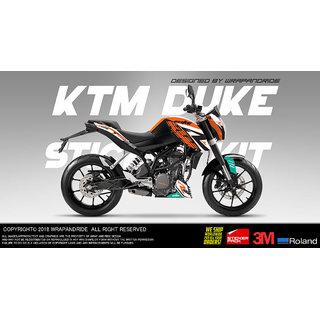 KTM Duke 125/200/390 690R Design Full Body Wrap Decal Sticker Kit