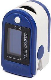 Digital Finger Pulse Oximeter With Pulse and Heart Rate Monitor (Without 2 AAA Batteries)