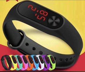 Axton Unisex Black LED Digital Watch