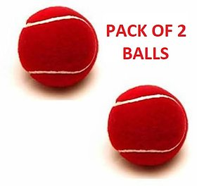 Tennis Cricket Rubber Ball High Quality - Pack of 2