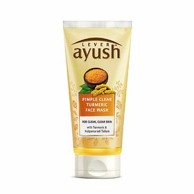 Lever Ayush Anti Pimple Turmeric Face Wash, 80g (Pack Of 1)
