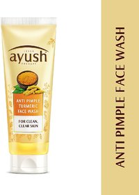 Ayush Anti Pimple Turmeric Face Wash, 80g