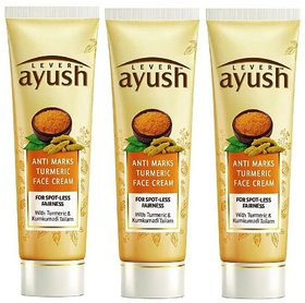 Lever Ayush Anti Marks Turmeric Face Cream - Pack Of 3 50g