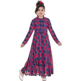 HRR Girls Full sleeve Multicolour Gown
