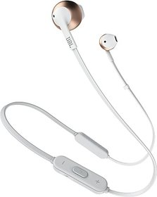 JBL T205BT Bluetooth Headset  (Rose Gold, In the Ear)