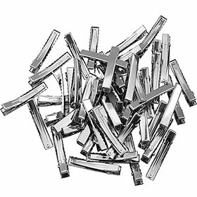 DIY Crafts Hair Clips Single Prong Metal Alligator Clips Hairbow Accessory - Size - 1-7 - Silver