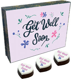 Get Well Soon Chocolate Box With Printed Chocolate  Almond(GWS 3)