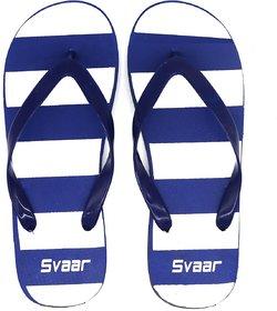 SVAAR Striped Blue Flip Flops / Slippers for Men