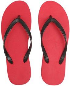 Svaar Women Comfortable Red Daily use Flip-Flops For Women