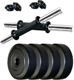Scorpion 10 kg Dumbbell Set  Dumbbell Plates with Dumbbell Rods (2.5 kg x 410 kg ) Fitness Home Gym PVC Dumbbell Set