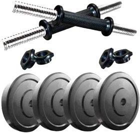 Scorpion 20 kg Dumbbell Set  Dumbbell Plates with Dumbbell Rods ( 5kg x 420kg ) Fitness Home Gym PVC Dumbbell Set