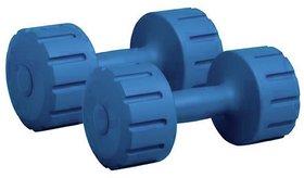 Scorpion Pack of 2(1kgx2)PVC Dumbbells Weights Fitness Home Gym Exercise Barbell  Light Heavy for Women  Mens Dumbbell