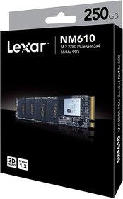 Lexar NM610 250 GB M.2 2280 PCIe Gen 3x4 NVMe Solid-State Drive