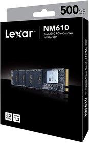 Lexar NM610 500 GB M.2 2280 PCIe Gen 3x4 NVMe Solid-State Drive