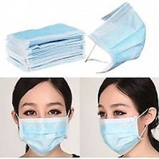 Medical Surgical Dust Face Mask Ear Loop Medical Surgical Dust Face Mask - Surgical Mask Pack of 20 - Flumask