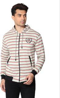 SMART GRABB Multicolor Cotton Hoodie for Men