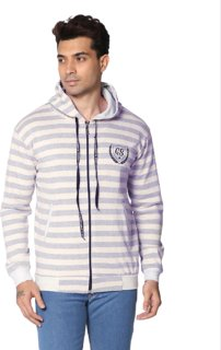 SMART GRABB Grey Full Sleeve Cotton Hoodie for Men