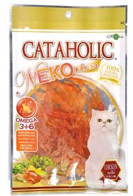 Cataholic Treats for Cats and Kittens, Multi Flavor and Multi Size Combo (Chicken Jerky, Pack of 3)