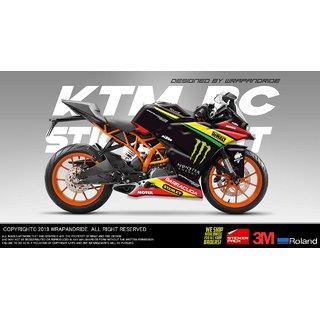 KTM RC 125 / 200 / 390 Stanley Edition Full Body Wrap Decal Sticker Kit