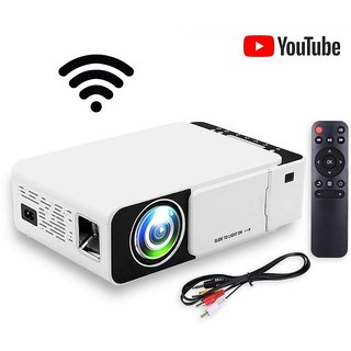 T6 Projector with Youtube+Wifi Home Theater 3D Full HD - Supports Wifi Display,TV, PC,Laptop,Set top Box - New Upgraded