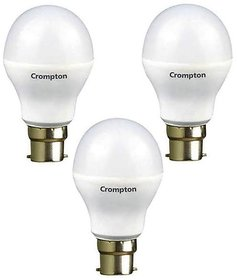 Crompton 3W LED Bulbs Cool Day Light - Pack of 3