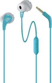 JBL Endurance Run Wired Headset  (Teal, In the Ear)