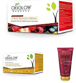 Oxyglow Gold Bleach, Gold face wash, Fruit Bleach Pack of-3