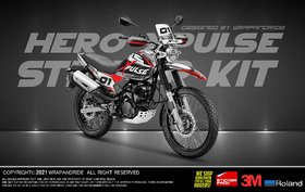 Hero Xpulse 200 Xreally Red Edition Full Body Wrap Decal Sticker Kit