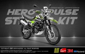 Hero Xpulse 200 Xreally Green Edition Full Body Wrap Decal Sticker Kit