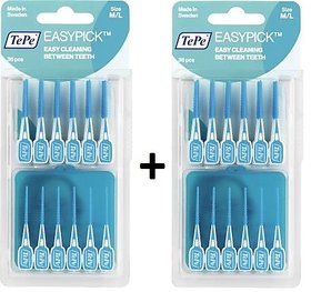 Tepe EasyPick Pack Of 2 M/L Blue (36Pcs) Interdental Cleaning(With One Free Travel Pouch)