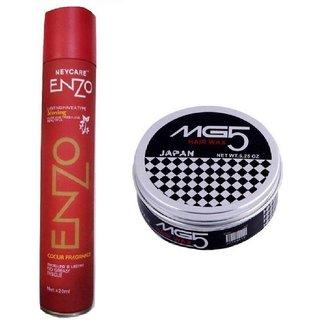 Enzo hair spray and mg5 wax