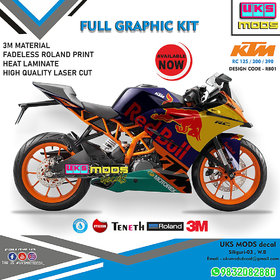 KTM RC 125/200/390 Full Modified Body Wrap / Decal / Sticker