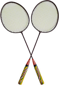 Scorpion Set of Sigma Badminton Rackets, Pair of Rackets, Lightweight  Sturdy, for Professional  Beginner Players