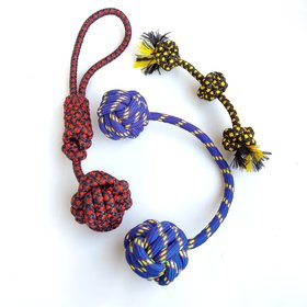 THE PAWXI COMBO OF 3 DOG Rope Toy for Activity and for Teeth Cleaning and Chewing (Combo of 3, Color- Assorted)
