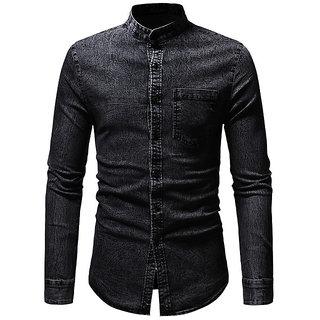 UD Denim Black Slim Fit Shirt